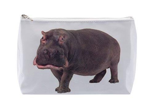 Trousse de Toilette Tigapaw ®, design Hippopotame, 20 cm de long, 14 cm de haut, Nilpferd