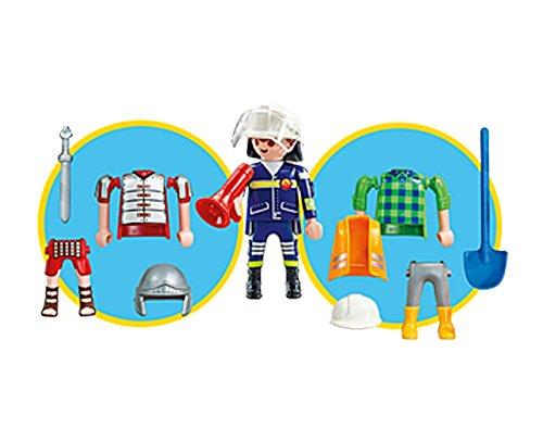 Playmobil 6566. Multi set Niño. Incluye 1 Figura Playmobil intercambiable, Bombero, Obrero o Soldado