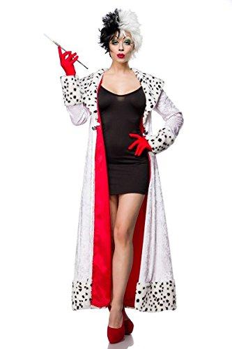 Atixo Evil Dalmatian Lady Kostümset - schwarz/weiß, Größe Atixo:XL