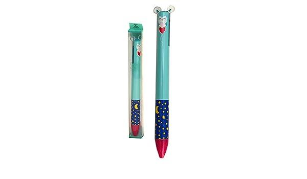 Civetta Legami Click e Clack Penna a Scatto Doppio Colore Blu e Rosa
