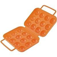 aihometm portátil de plástico plegable caja de 12huevos Carrier caso Picnic huevos contenedor portátil Holder almacenamiento color al azar