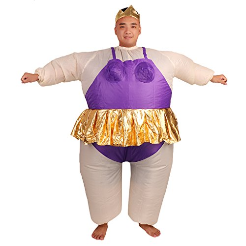 Kostüme Ballerina Fat (Gazechimp Aufblasbar Ballerina Maskenkostüm Fett Anzug Herrenabend Balett)