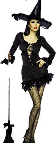 Atixo Hexen-Minikleid - schwarz, Größe (Kostüme Sexy Hexe)