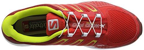 Salomon - X-Wind Pro - Sneaker, homme rouge (Bright Red/Flea/Gecko Green)