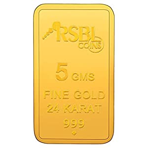 RSBL 5 gm, 24k (999) Yellow Gold Ecoins Precious Bar