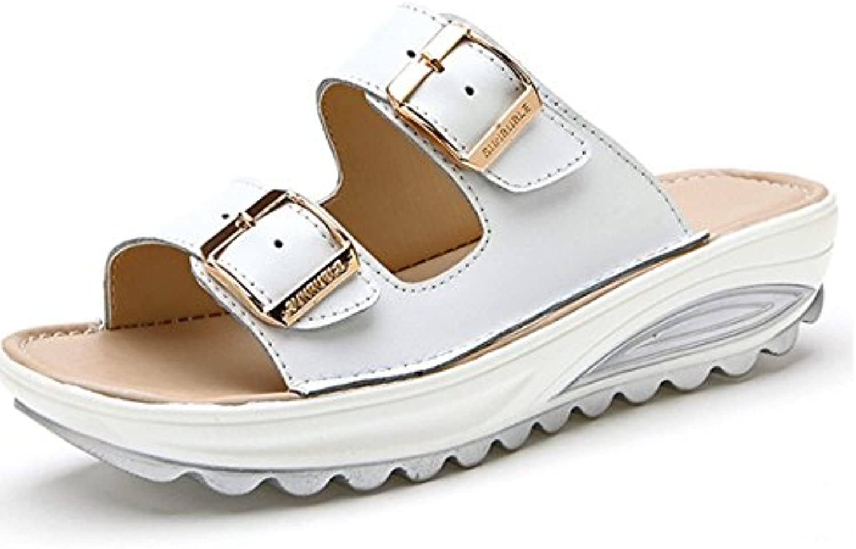Gemütlich Sommer Outdoor Outdoor Pantoffeln Schuhe dicke Sandalen Anti-Rutsch mit flachen Boden Pantoffeln (4ö
