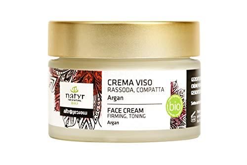 BIO Anti-Aging Gesichtscreme mit Arganöl, Hyaluronsäure und Aloe Vera ✔ Straffende Feuchtigkeitscreme gegen Falten ✔ Natyr - Fair Trade Naturkosmetik aus Italien ✔ 50ml