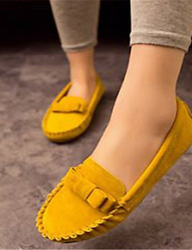ZQ Scarpe Donna Finto camoscio Piatto Punta arrotondata Mocassini Casual Nero/Blu/Giallo/Rosa , yellow-us8.5 / eu39 / uk6.5 / cn40 , yellow-us8.5 / eu39 / uk6.5 / cn40 black-us8.5 / eu39 / uk6.5 / cn40