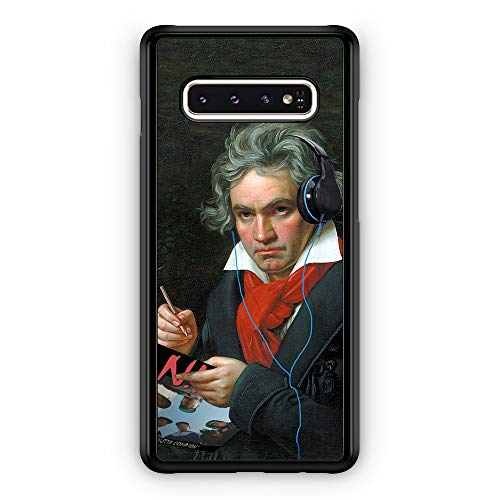 Micro Gorilla Gangster Beethoven Cool Funny Vintage Headphones Rap hülle für Samsung Galaxy S10 Plus