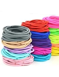 Stuti Collection Multi Colour Cotton Stretch Hair Tie Thin Rubber Band For Girls (Pack of 25)