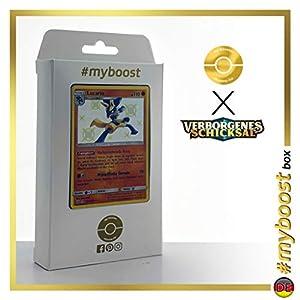 Lucario SV22/SV94 Variocolor - #myboost X Sonne & Mond 11.5 Verborgenes Schicksal - Box de 10 cartas Pokémon Alemán