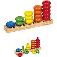Viga Toys - 58474 - Jeu De Construction - Anneaux D'empilage Pour Compter