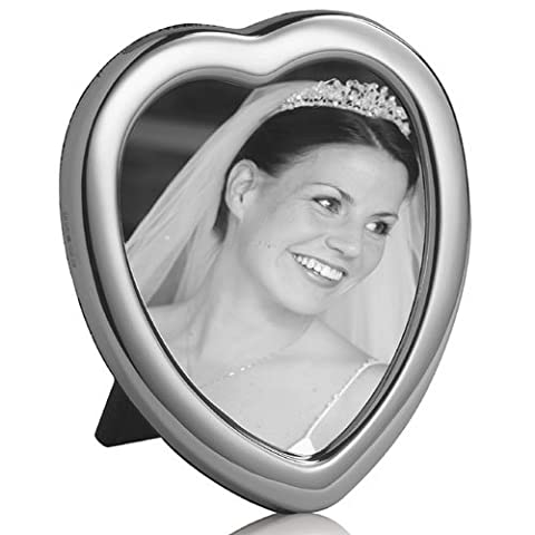 STERLING SILVER PLAIN HEART PHOTO FRAME 4.5