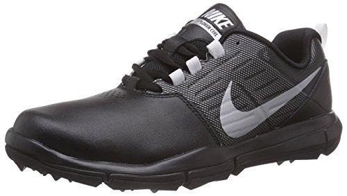 Nike Herren Explorer Lea Golfschuhe, Schwarz (Black/Metallic Silver/Cool Grey 001), 45.5 EU