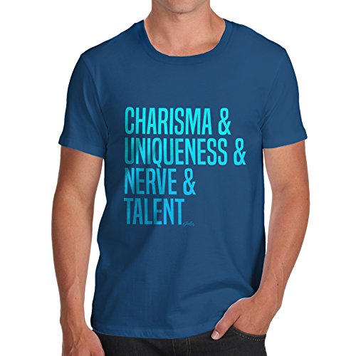 TWISTED ENVY Men's Charisma, Uniqueness, Nerve & Talent T-Shirt