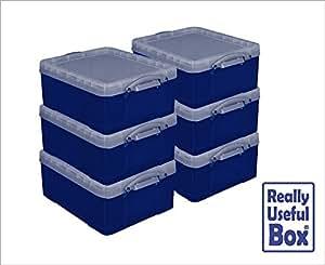 really useful 18 litre kunststoff cd dvd kiste x strong blau mega deal boxen 6 st ck amazon. Black Bedroom Furniture Sets. Home Design Ideas