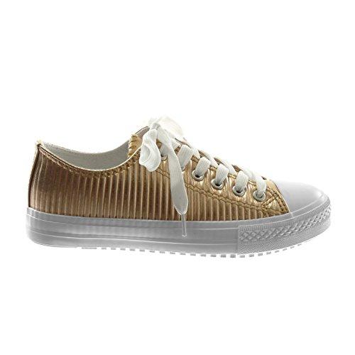 Espadrille Matelassée De Angkorly Lignes Chaussures Femmes Tennis 5z4wxq