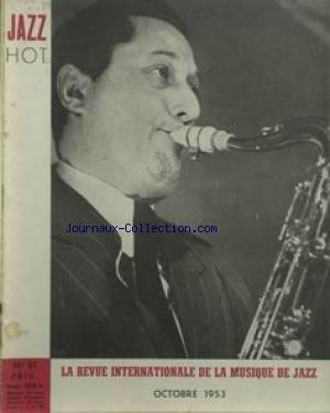 JAZZ HOT [No 81] du 01/10/1953 - LA REVUE INTERNATIONALE DE LA MUSIQUE DE JAZZ.