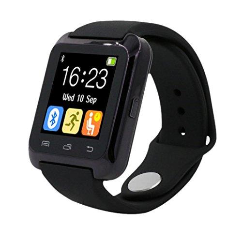 Amlaiworld Smart watch,Bluetooth Smart da polso orologio contapassi sano per iPhone LG Samsung telefono (nero )