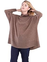cashmere 4 U Jumper Pullover Dolcevita Oversize 100% Cashmere per Donne 4d25fd2a58d8