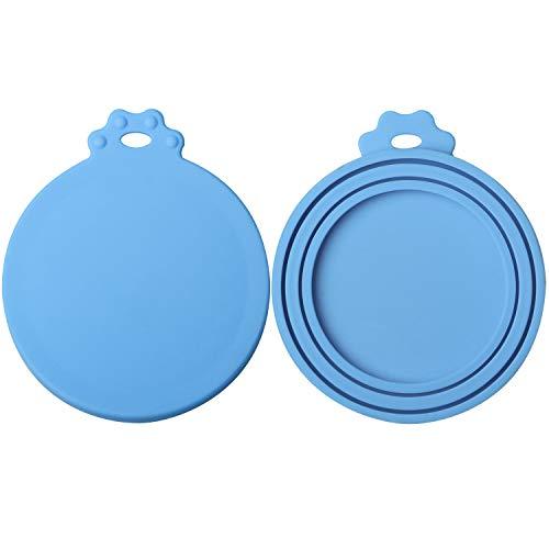 ISKM Dosendeckel 2er-Set Futterdosen Deckel Tierfutter Lebensmittelechtes Silikon BPA Frei & FDA-Zulassung - Katzenfutter Deckel Für Dosen