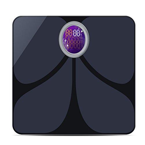 A-ZONE bilancia pesapersone digitale Bluetooth/composizione corporea Monitor con scala, App gratuita per analizzare 8 Indicatori fitness