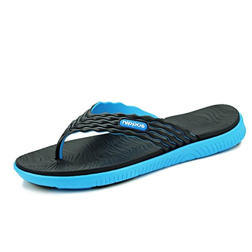 SHANGXIAN Chaussons tongs été extérieur plat talon bleu vert rouge en amont chaussures black blue