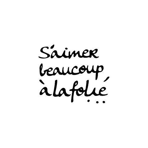 AC-Déco Sticker Miroir - S'aimer Beaucoup, à la Folie - 25 x 25 cm - Acrylique - Noir