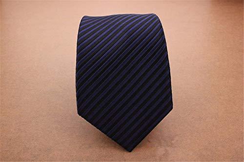 pyty123 Nano-Mode-Britisches Geschäfts-Linkes Streifen-Krawatte Der Männer 7Cm, Dunkelblau - Britische Streifen-krawatte