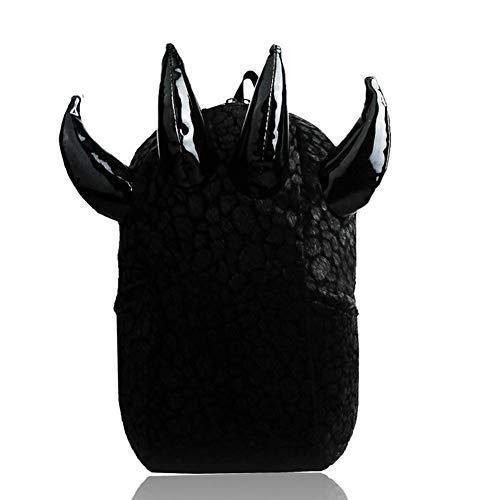 Ljshu uomini e donne cool spalle borsa grande capacità artigli collegio vento borsa computer zaino travel bag,black