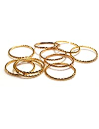 Daily Use Metal Alloy (Panchaloha) Toe Ring for Women- Thin Rings with Dot Pattern