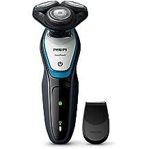 Philips AquaTouch S5070/04 Máquina de afeitar de rotación Recortadora Azul, Gris - Afeitadora (Máquina de afeitar de rotación, SH50, 2 año(s), Azul, Gris, AC / batería, Níquel-metal hidruro (NiMH))