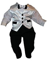 Traje de Bautizo, Traje de fiesta, Mono Infantil, 5 pcs, negro-blanco, jóvenes de bebé infantil Niño bautizo traje Traje De Boda K12