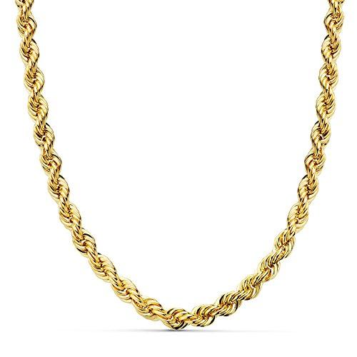 Cordón Salomónico Grueso Oro amarillo 18k 60cm 5mm