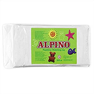 Alpino DP000068 – Plastilina, color blanco