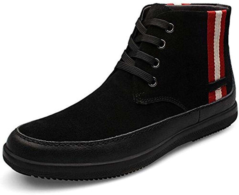 SYYAN Hombres Scrub Gamuza Cuero Tie Invierno Engrosamiento Entrenador Neutral Adulto Modo mixto Zapatillas de  -