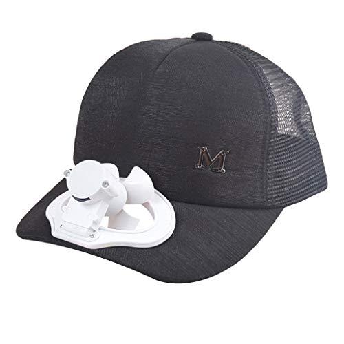 Tourist-mesh-hut (Sonnena Sommer Cool USB-Aufladen Fan Schirmmützen Kappe Unisex, Frauen Baseball Cap Schatten Sonnencreme Hut Mesh Outdoor Modische Mütze Snapback Hat)