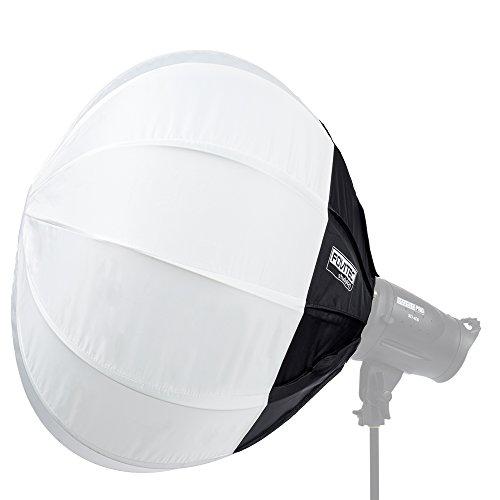 Bowens Monolights (Fovitec Fotografie & Film Globe Laterne Softbox Diffusor [79] mit Bowens Speedring Halterung [Strobe & Monolight kompatibel] & Tragetasche)