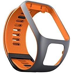 TomTom - Watch Strap TomTom Runner 3, Spark 3, Runner 2, Spark, Adventurer & Golfer 2 Size Small Gray / Orange (ref 9UR0.000.06)