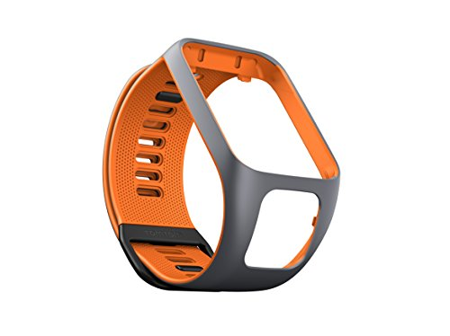 TomTom Wechselarmband für TomTom Spark 3 / Spark / Runner 3 / Runner 2 GPS-Uhren, Grau/Orange, Größe