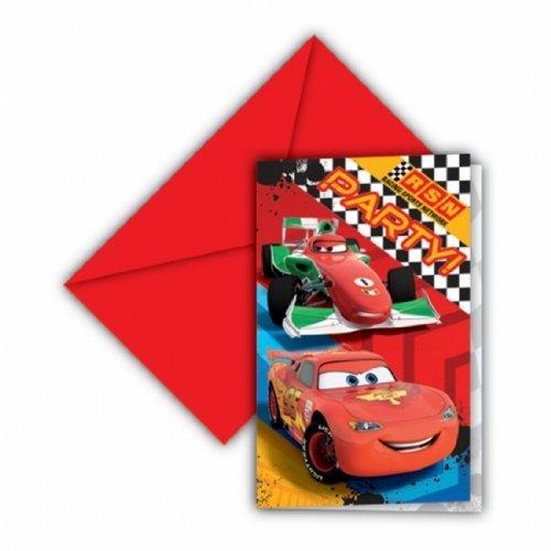 NEU Einladungskarten Cars RSN, 6 Stück