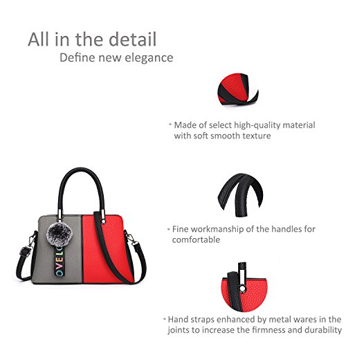 Ruiren Multifunktions Bunte Reise Shopping Soft Bag Portable Umhängetasche Frauen Messenger Bags Frauen Geldbörse Schultertasche Grau