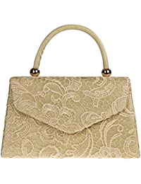 Craze London Womens Elegant Ladies Going Out Wedding Party Clutch Handbag  Evening Bag Lace Satin Top 5c86037cf5a37