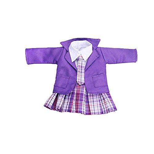 Baoblaze 4er/ Set Puppenkleidung Schuluniform Anzug Puppenzubehör für 18