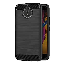 AICEK Moto G5S Hülle, Schwarz Silikon Handyhülle für Motorola Moto G5S Schutzhülle Karbon Optik Soft Case (5,2 Zoll)