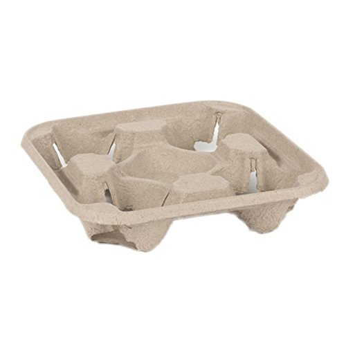 Dispo geformte Pulp Faser Carrier 90PS, 4 Cup 4-cup Carrier