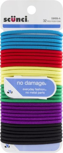 scunci-no-damage-hair-ties-assorted-colors-32-ct-by-scunci