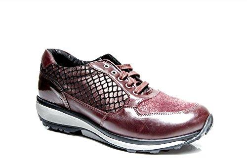 Xsensible Stretchwalker , Chaussures de ville à lacets pour femme rouge Rot Rouge