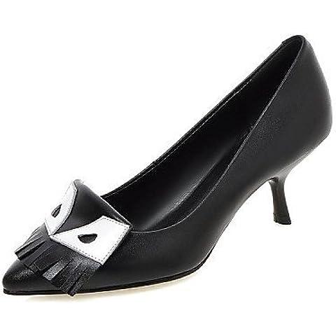 syyner nappa scarpe da donna in pelle tacco a spillo