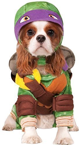 Fancy Me Haustier Hund Katze Teenage Mutant Ninja Turtles Halloween Film Cartoon Kostüm Kleid Outfit Kleidung Kleidung - Lila (Donatello), Extra - Teenage Mutant Ninja Turtle Kostüm Hunde